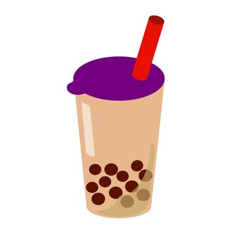 Tapioca milk tea purple