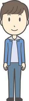 Junior high school student men-283-full body
