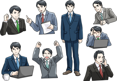 Salary man pose collection