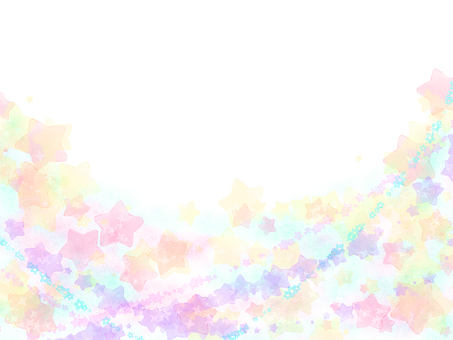 Hand-painted watercane nebula translucent frame card / yellow