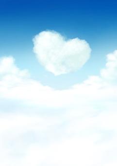하트 모양의 구름