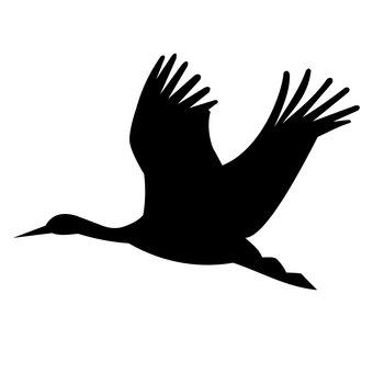 Flying bird illustration silhouette