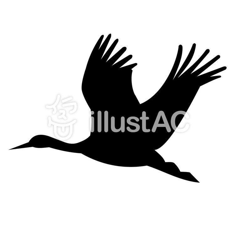 飛ぶ鳥 イラスト シルエットイラスト - No: 753699/無料イラスト ...