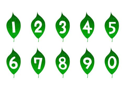 Leaf-shaped numbers