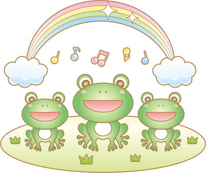 Frog's choral illustration (with wire)