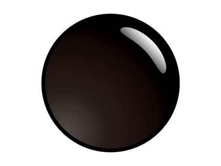 Circular _ black _ button material