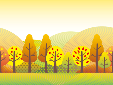 Fall landscape 2 Seamless countryside