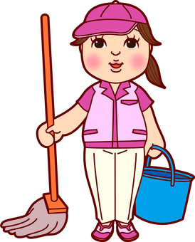 Cleaner work clothing female mop