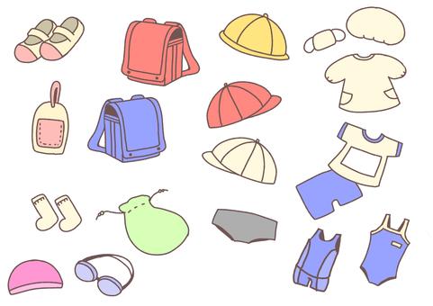 Elementary school material 1 - Wearing things -