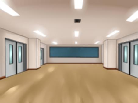 Broad classroom (multipurpose room) Blurring processing