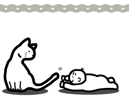 Cat baby animal character