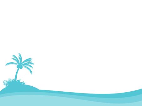 シンプルな海の飾り枠