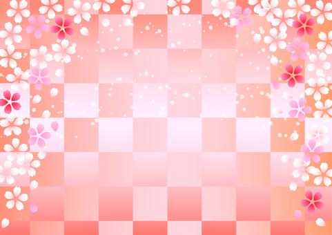 Cherry and checkered background