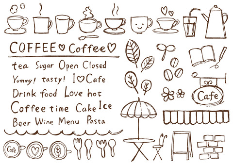 Cafe style pen illustration