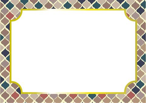 Moroccan tile frame