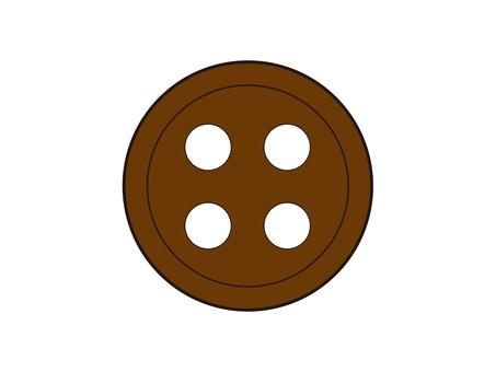 갈색 버튼