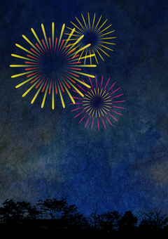 Fireworks background illustration