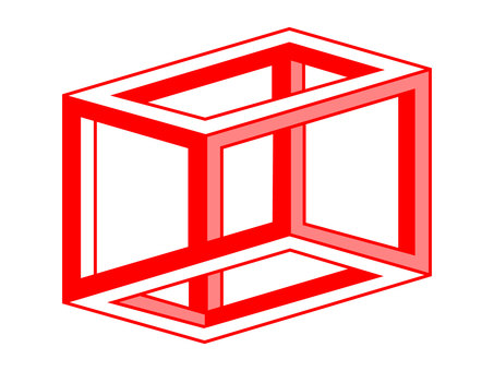 Design ESCHERS CUBE Red