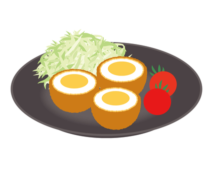 Side dish Scotch egg