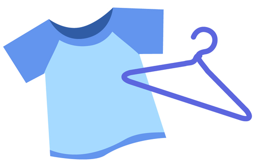 T-shirt and hanger (blue