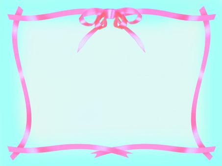 Pink ribbon frame C