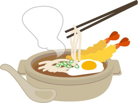Nabe noodles chopsticks