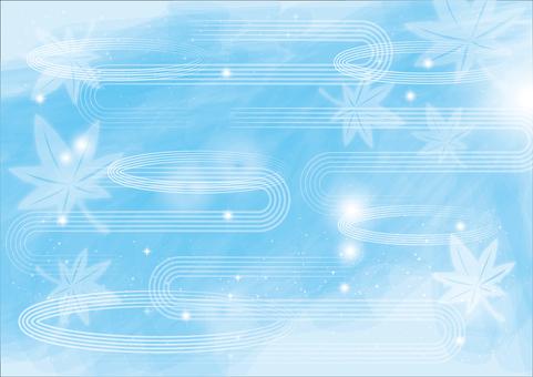 Background _ and wave line _ aqua