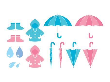 Illustration of rain gear