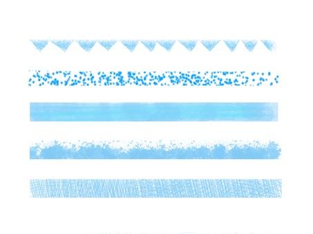 Line Blue Blue