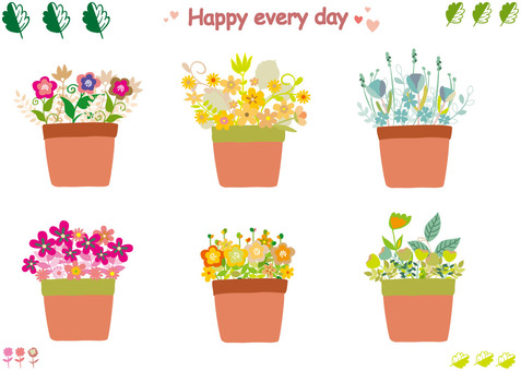 Cute potted flowers