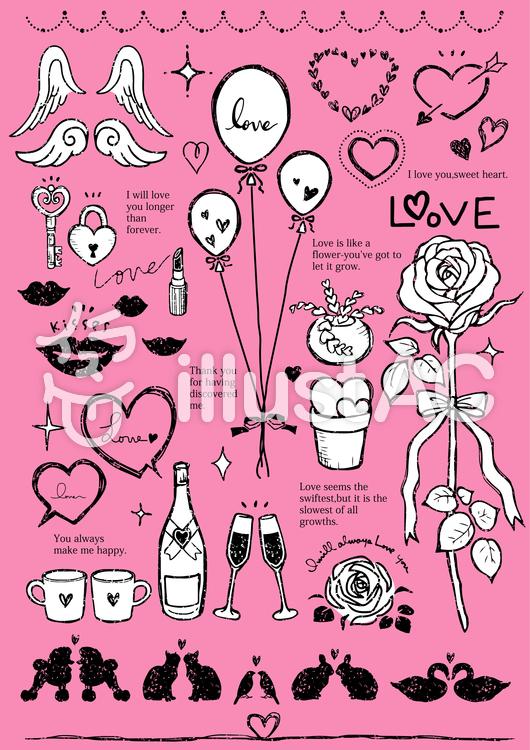 手描きイラスト(love)01のイラスト