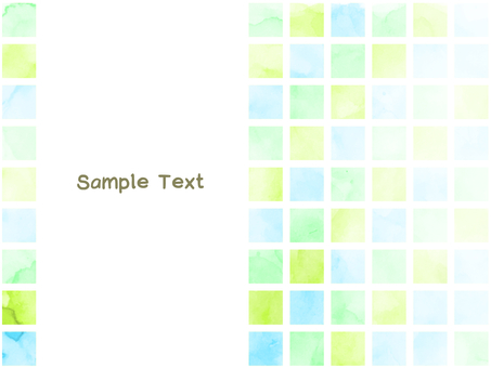 Cute watercolor tile pattern material Blue series