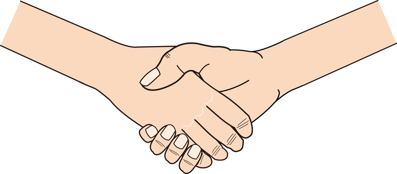 Hand series deformed handshake