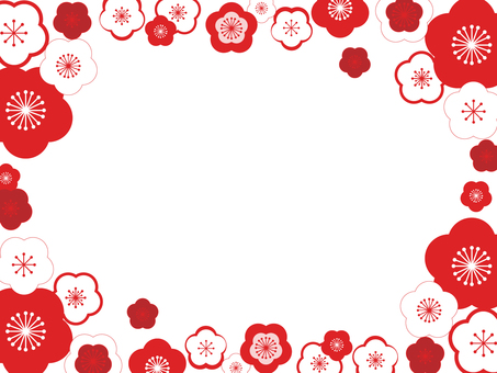 Plum flower decorative frame 15