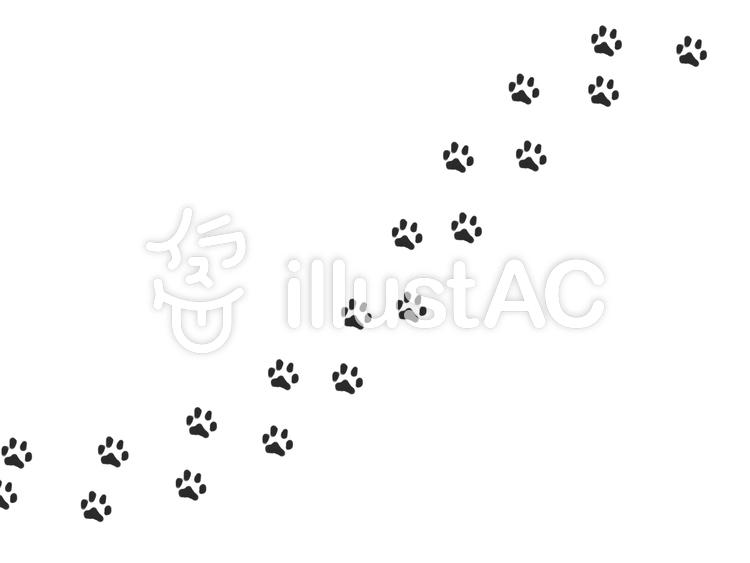 猫の足跡斜めイラスト No 708250無料イラストならイラストac