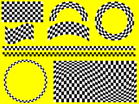 Checkered flag · check pattern material set