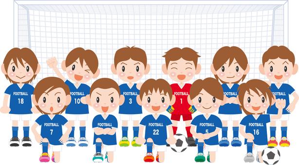 Boy football team