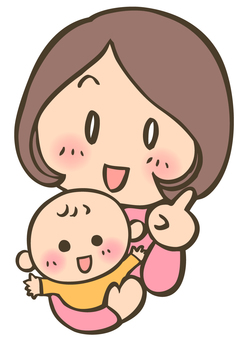 Mom and baby pointing - 2