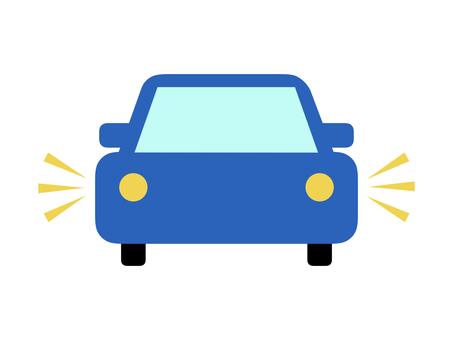 Car car side blue