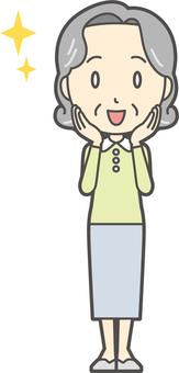 Elderly Bob woman -164 - whole body