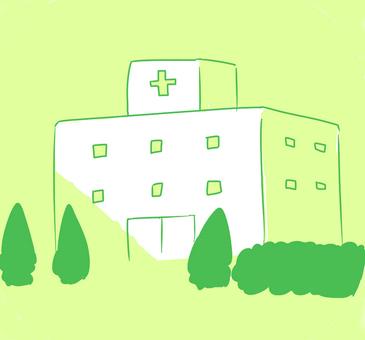 Rough hospital handwritten illustration