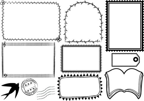 Monochrome frame set 【bonus game】