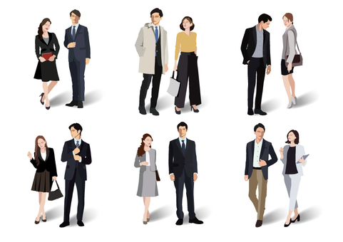 Office fashion man and woman 【2】