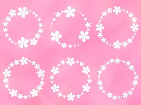 Cherry blossom frame, set