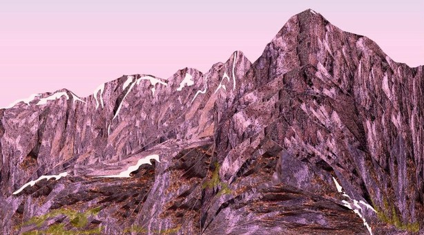 初冬の山脈