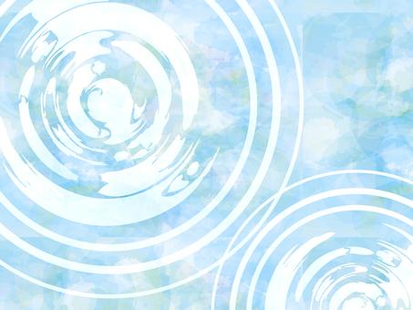 背景和風水彩初夏盛夏梅雨波紋波青波壁紙絵