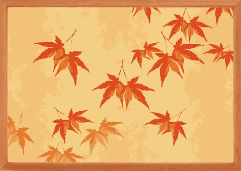 Autumnal leaves frame