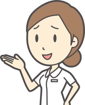 餃子護理白色外套-005-胸圍