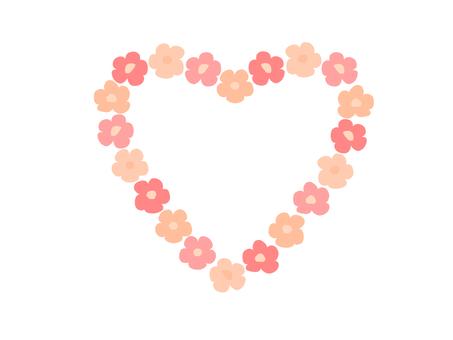 Flower Heart Frame (Orange type)