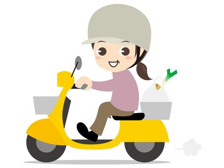Woman shopping with B015_ bike